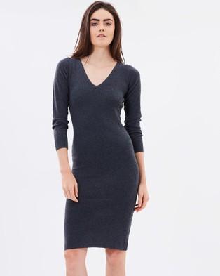 DELPHINE – Chase Knit Dress – Bodycon Dresses (Grey)
