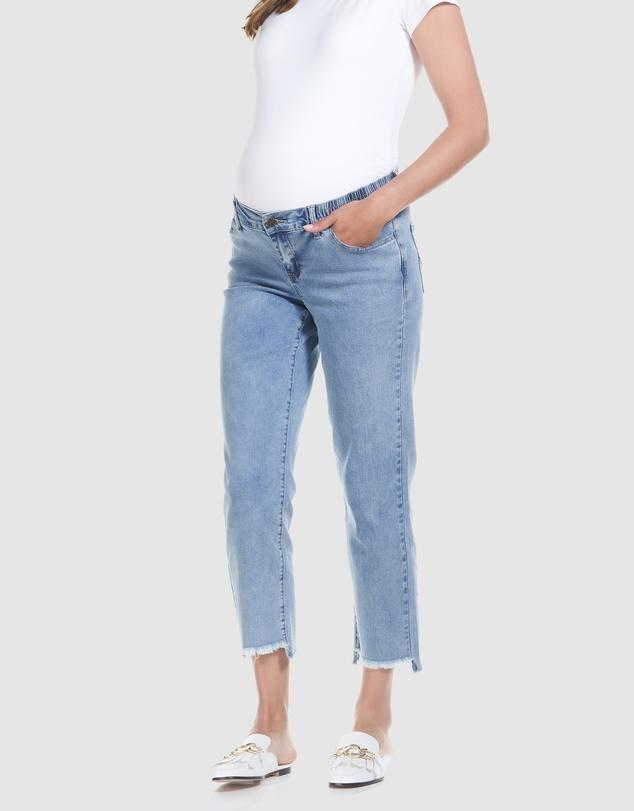 Women Mid Rise Slim Straight Jeans