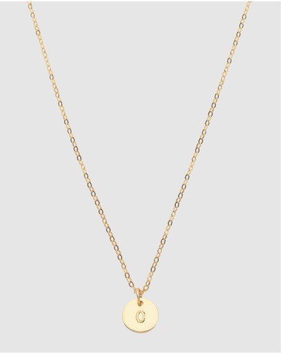 Dear Addison Initial O Letter Necklace Gold