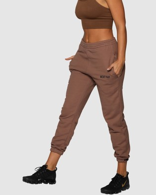 Nicky Kay High Rise Pants - Sweatpants (Brown)