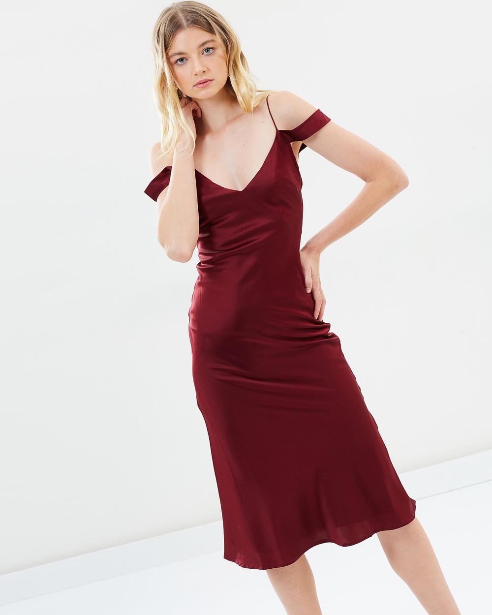 Hansen & Gretel Honeysuckle Silk Dress Dresses Wine Honeysuckle Silk Dress