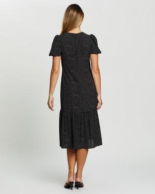 Atmos&Here Antonia Midi Dress - Printed Dresses (Black Based Print)
