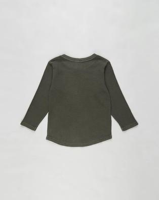 St Goliath - Long Sleeve Waffle Tee   Kids - T-Shirts & Singlets (Khaki) Long Sleeve Waffle Tee - Kids