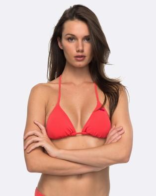 Roxy – Womens Roxy Essentials Tiki Tri Separate Bikini Top – Bikini Tops (TEABERRY)
