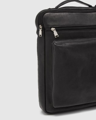 Oxford Swift Leather Backpack Briefcase - Bags (Black)