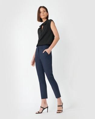 Forcast Stella High Waist Trousers Pants Navy High-Waist