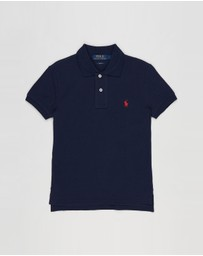 Polo Ralph Lauren - Custom Fit Cotton Mesh Polo - Teens