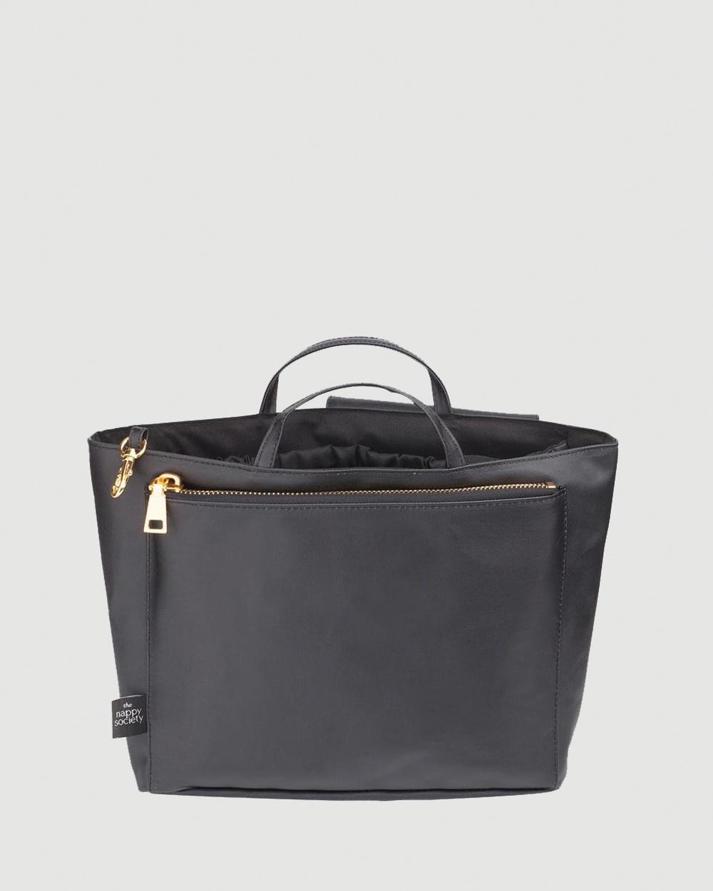 The Nappy Society Compact Bag Insert Bags Black Australia
