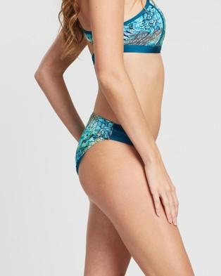 Aqua Blu Australia Divinity Gathered Side Briefs - Bikini Bottoms (Divinity)