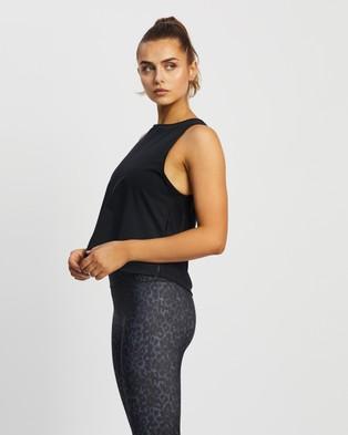 Nimble Activewear Mesh Back Tank - Muscle Tops (Black)
