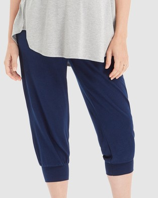 Bamboo Body Summer Slouch Pants - Pants (Navy)