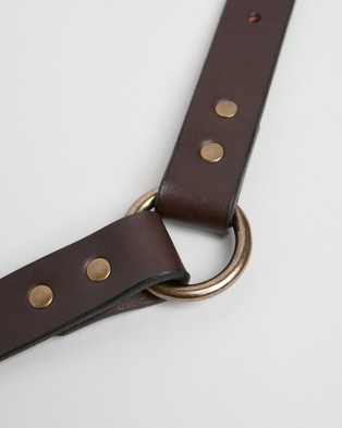 Filson Leather Dog Collar - Pets (Brown)