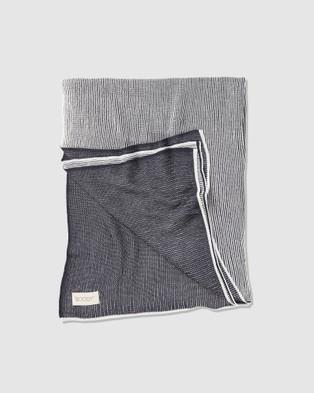 Boody Organic Bamboo Eco Wear Cozy Knit Wrap   Storm - Loungewear (Grey)