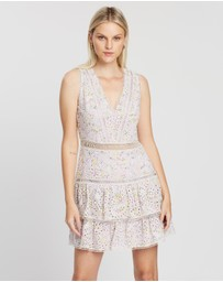 Alice & Olivia - Tonie Embroidered Eyelet Dress