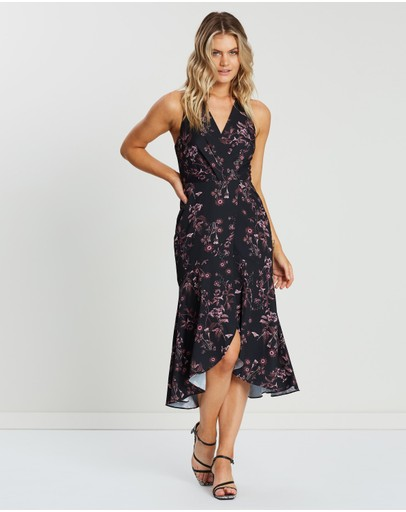 Cooper St Isla V-neck Maxi Dress Print Dark