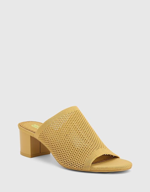Women Ismene Recycled Flyknit Block Heel Sandals