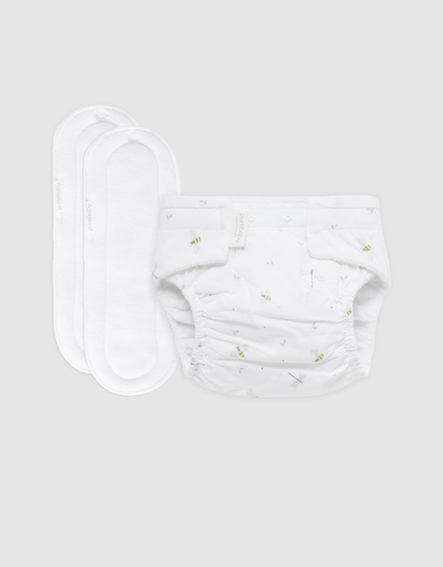 Kids Reusable Nappy Starter Kit with 2 Pads - Babies