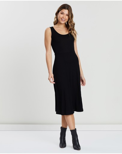 Dorothy Perkins - Seamed Fit-and-Flare Midi Dress
