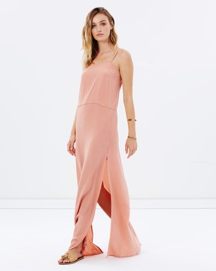 Auguste – Lily Silk Slip Dress Pastel Pink