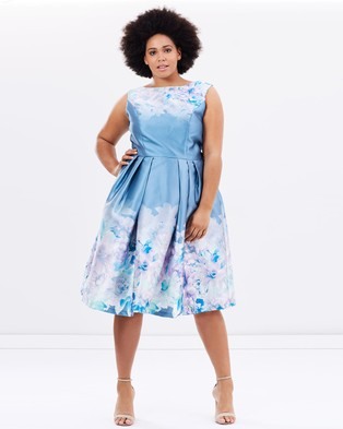 Chi Chi Curve – Karlene Dress – Dresses (Blue Multi)