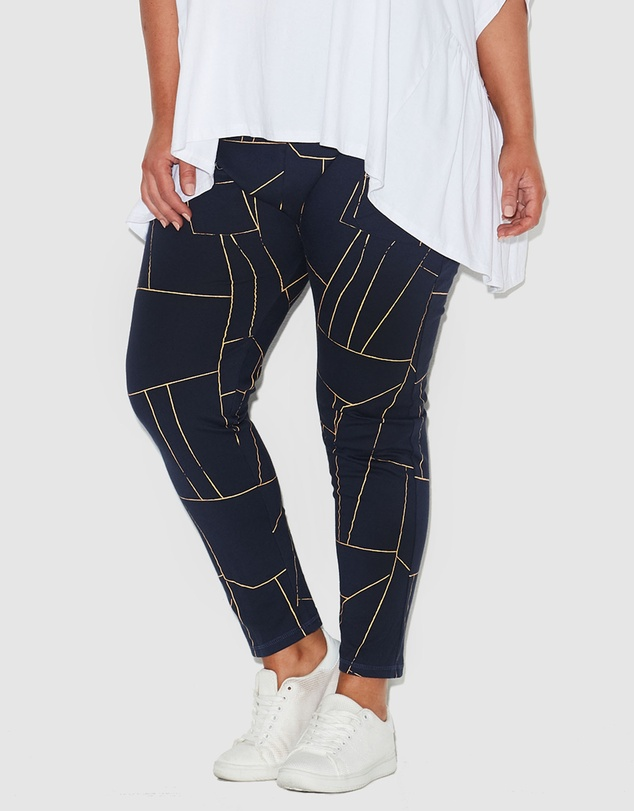 17 Sundays - Jagged Print Pants