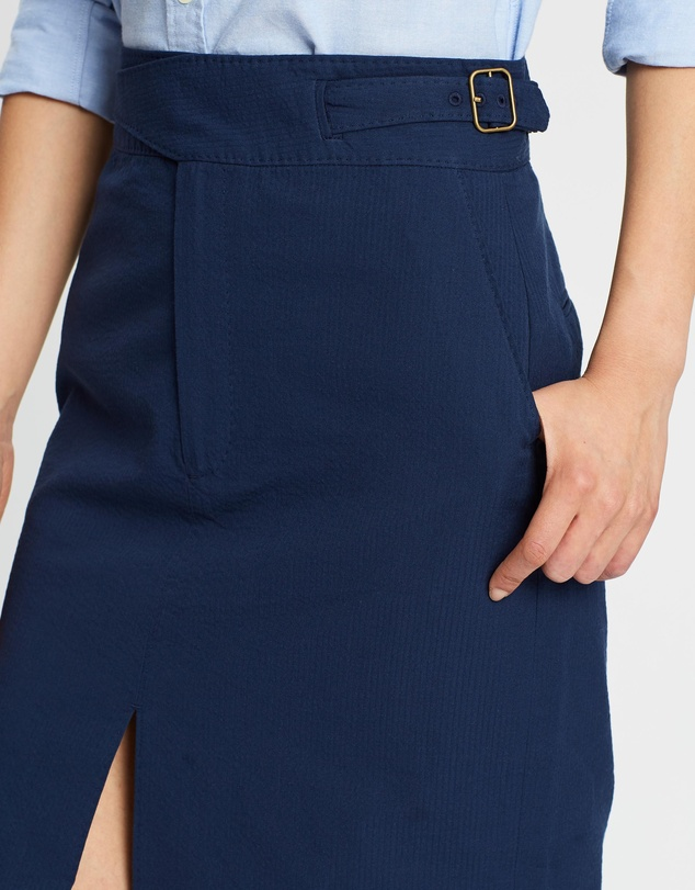 Polo Ralph Lauren - Seersucker Straight Skirt