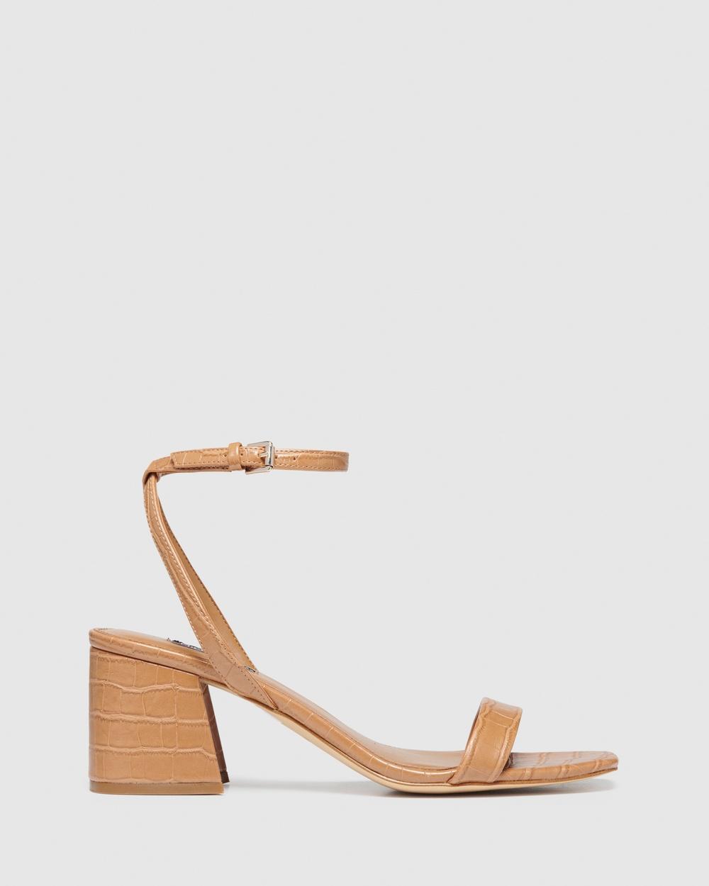 Nine West Giada Sandals LIGHT TAN Strappy sandals Australia