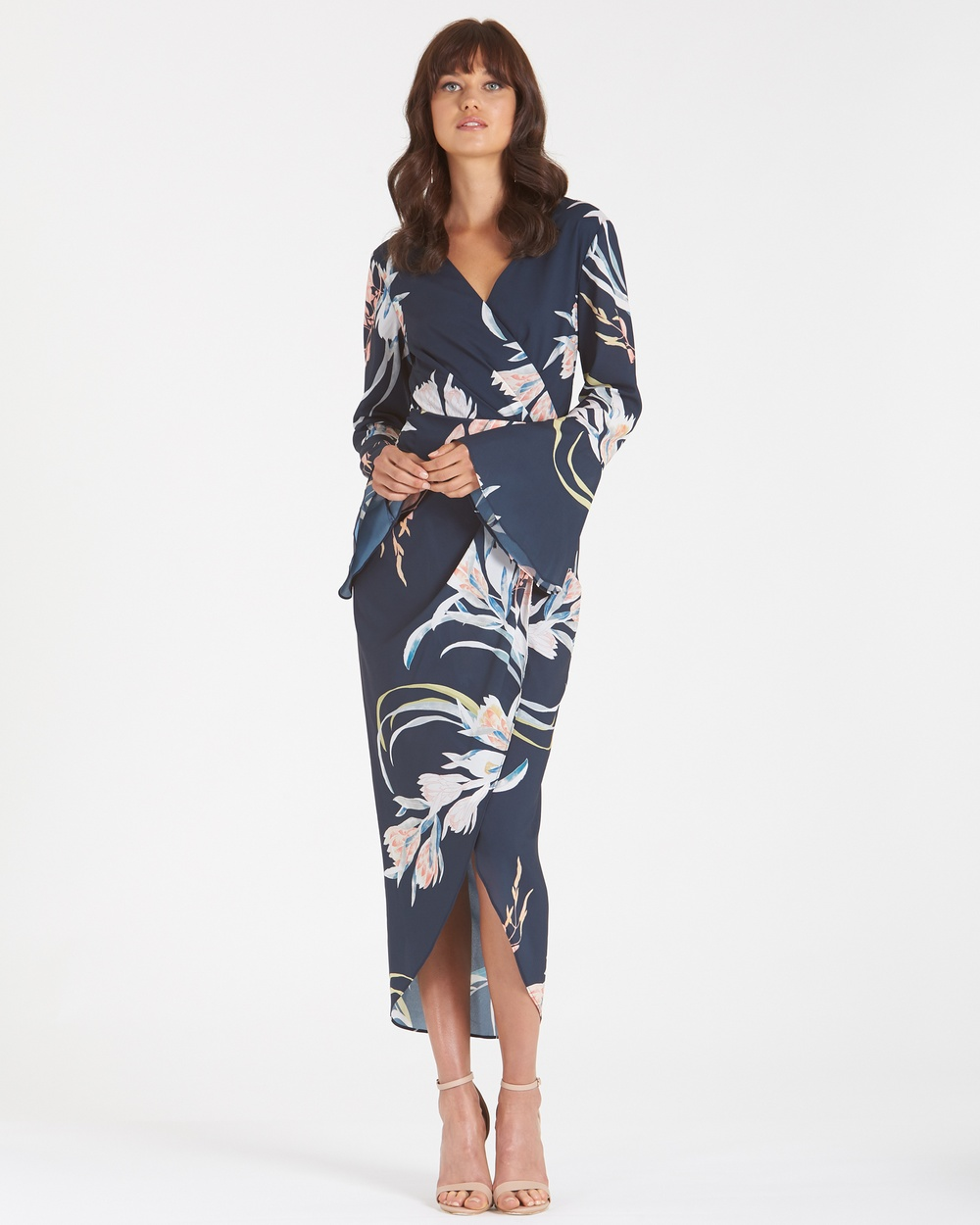 Amelius Multi Floral Orient Print Dress