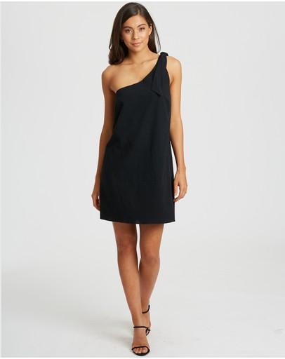 Calli Monique Asymmetric Dress Black