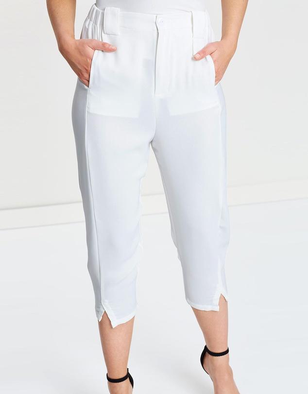 Women Carrot Top Crop Trouser