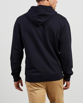 Carhartt Hooded University Sweatshirt - Hoodies (Dark Navy & White)