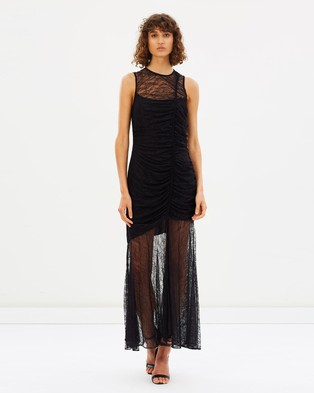 CAMILLA AND MARC – Plaza Lace Midi Dress Black