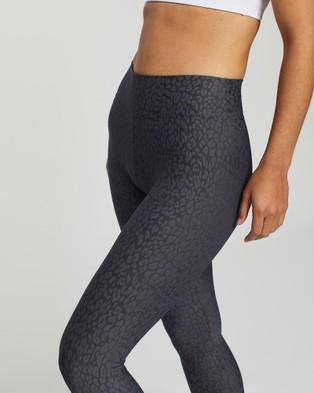 Liquido Active Jacquard Leggings - Full Tights (Dark Grey)