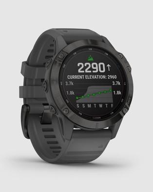 Garmin fenix 6 Pro Solar - Fitness Trackers (Black with Slate Grey Band)