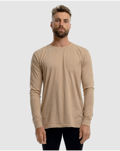 First Division Weekender Long Sleeve Tee Camel
