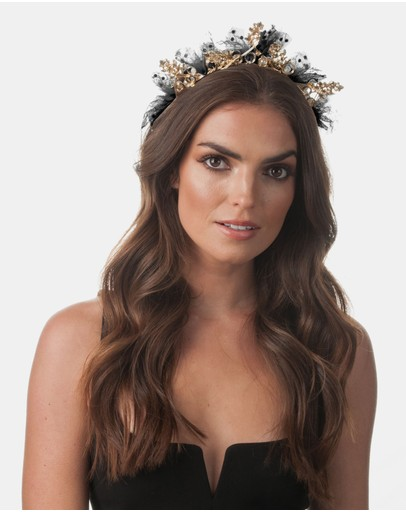 Olga Berg - Lillian Metal Tulle Headband