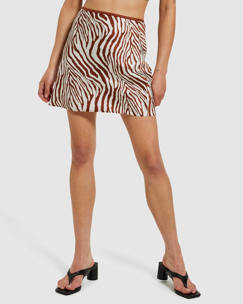 Alice In The Eve Cleo Zebra Slip Mini Skirt Skirts ASSORTED