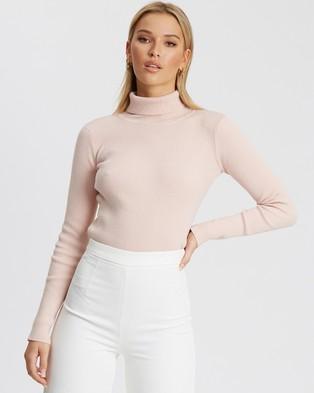 Tussah Melani Knit Top - Jumpers & Cardigans (Pale Pink)