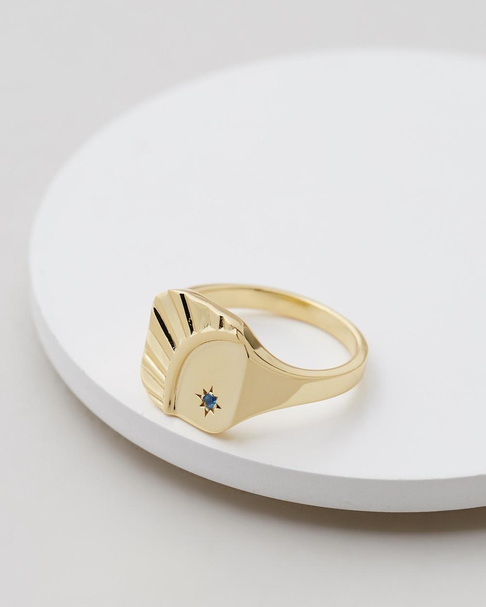 Serge DeNimes Blue Moon Ring Jewellery Gold