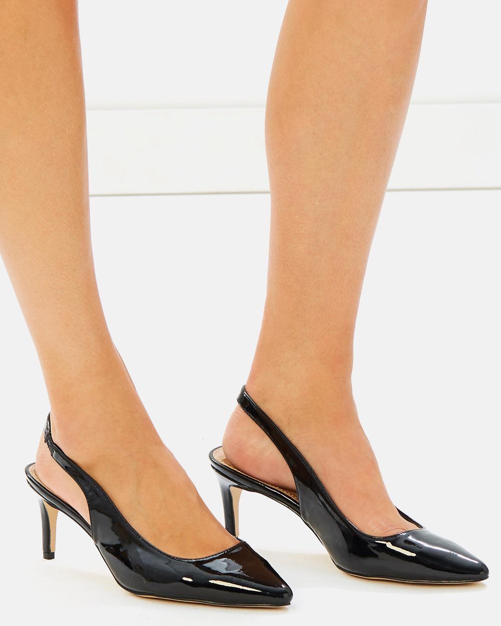 SPURR ICONIC EXCLUSIVE Osaka Sling back Heels All Pumps Black Patent ICONIC EXCLUSIVE Osaka Sling back Heels