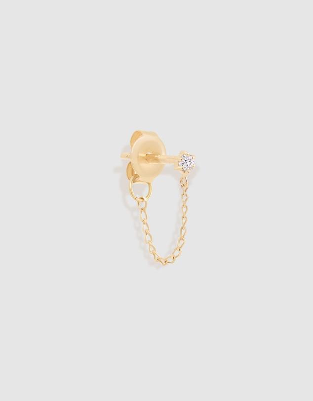 Women 14k Gold Sweet Droplet Single Chain Earring