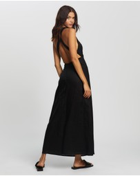 AERE - Cross Back Maxi Dress
