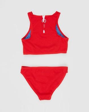 Duskii - Yara Crop Bikini Set Teens (Cherry Red)