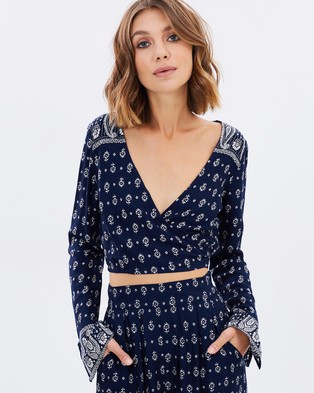 Tigerlily – Tengri Top – Cropped tops (Sapphire)