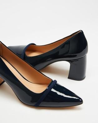 Nina Armando Shar II - Mid-low heels (Navy Patent)