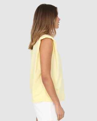 BY.DYLN Ryan Tank - T-Shirts & Singlets (Lemon)