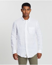 BROOKS BROTHERS - Irish Linen Solid Milano Shirt