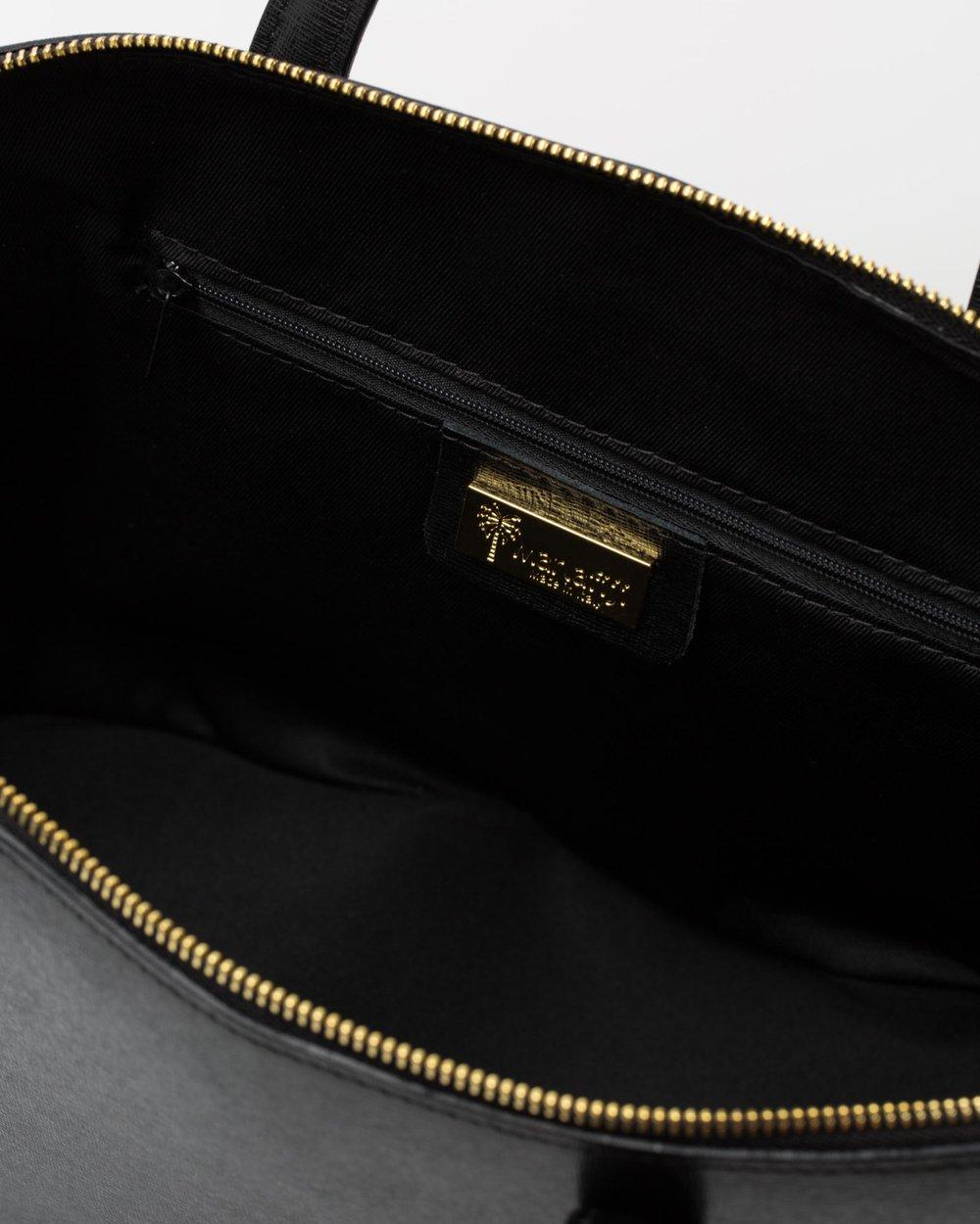 20ee85bd5908 Fiona black Italian leather handbag by Marlafiji Online