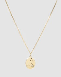 Luna Rae - Solid Gold - Stars of Pisces Necklace