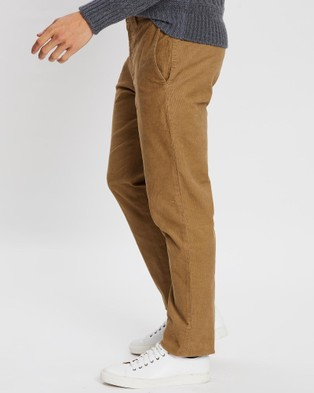 Kent and Curwen Ribbed Corduroy Trousers - Pants (Brown)